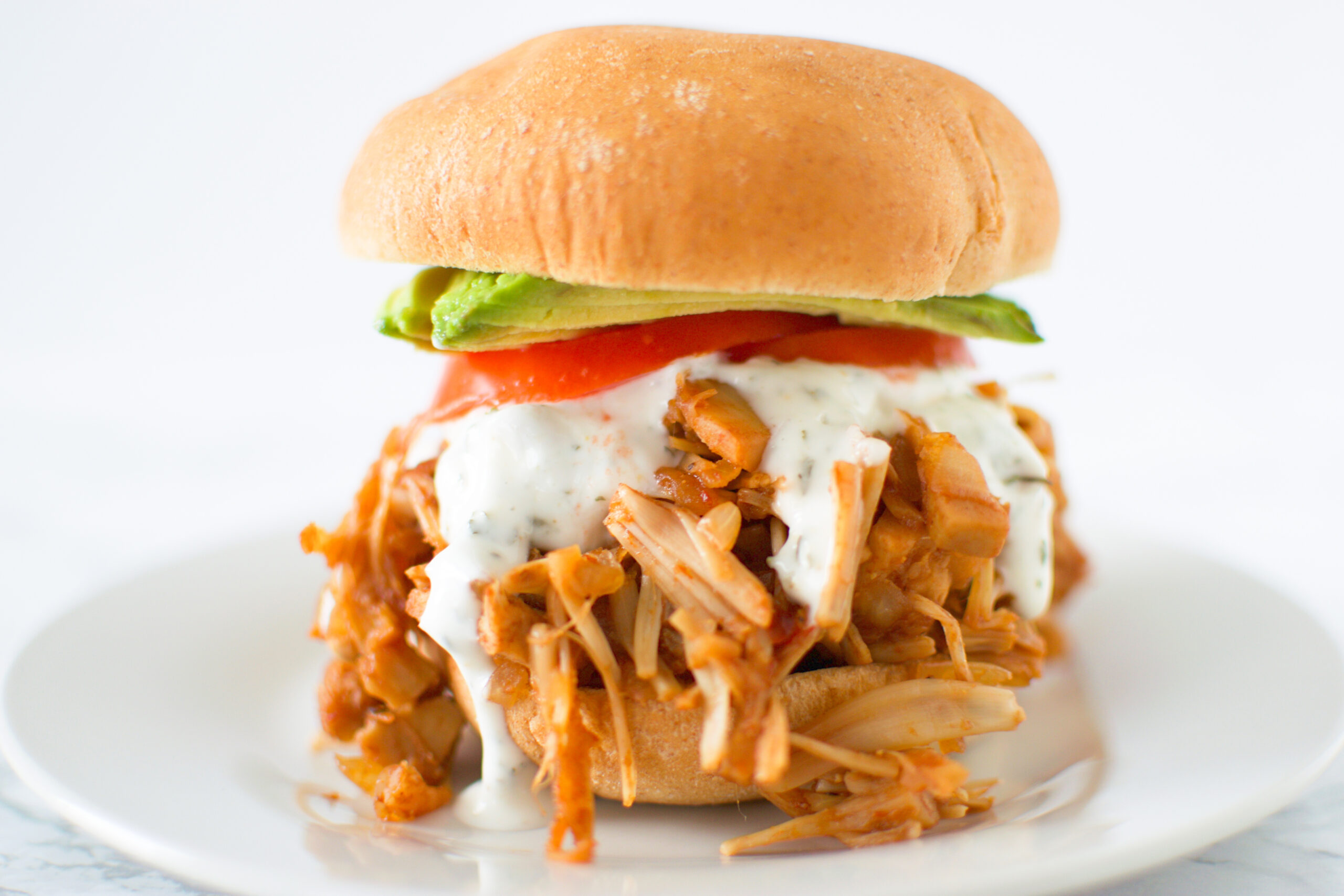 Jackfruit Pulled Pork Sandwich