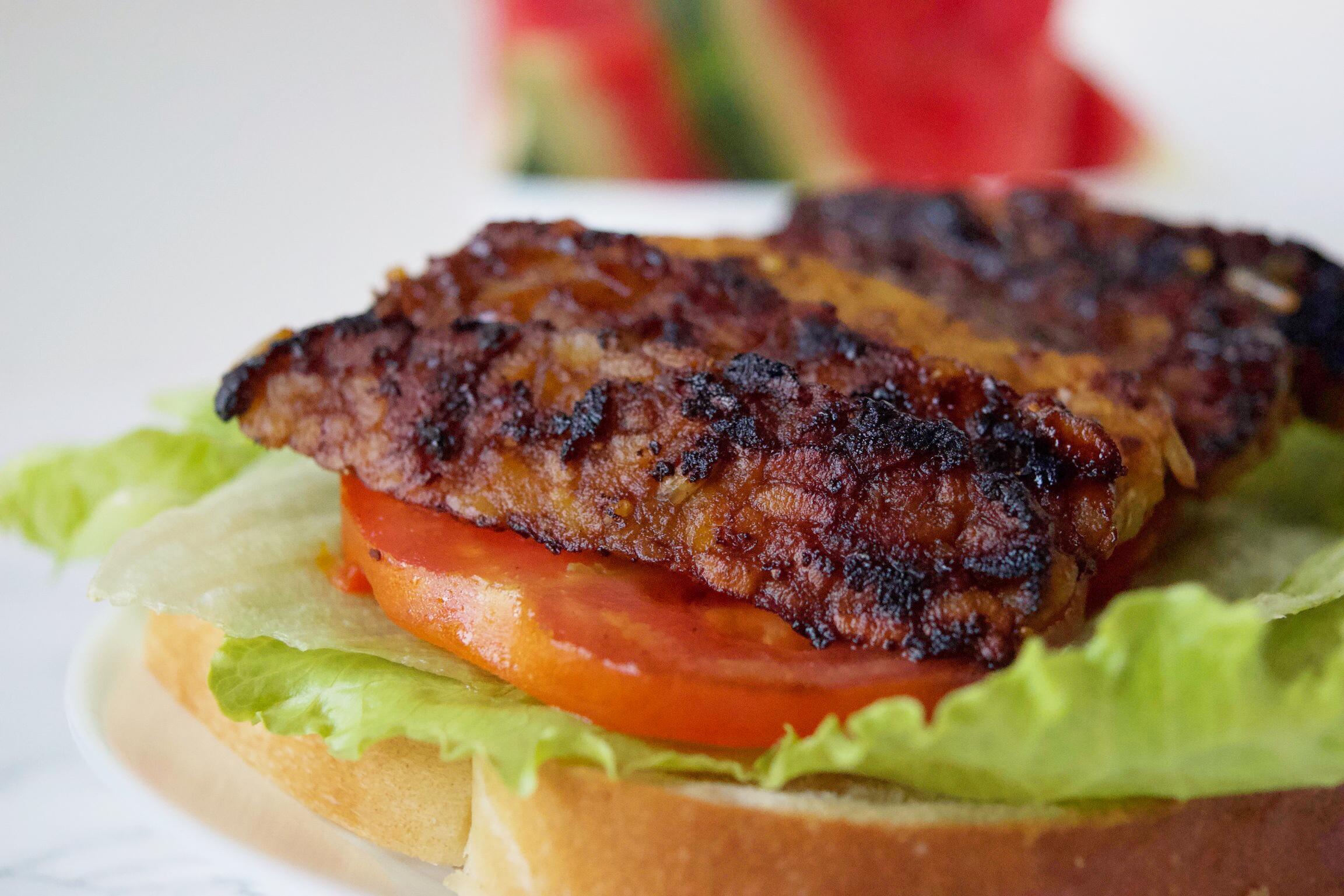 TLT Tempeh Lettuce Tomato Sandwich