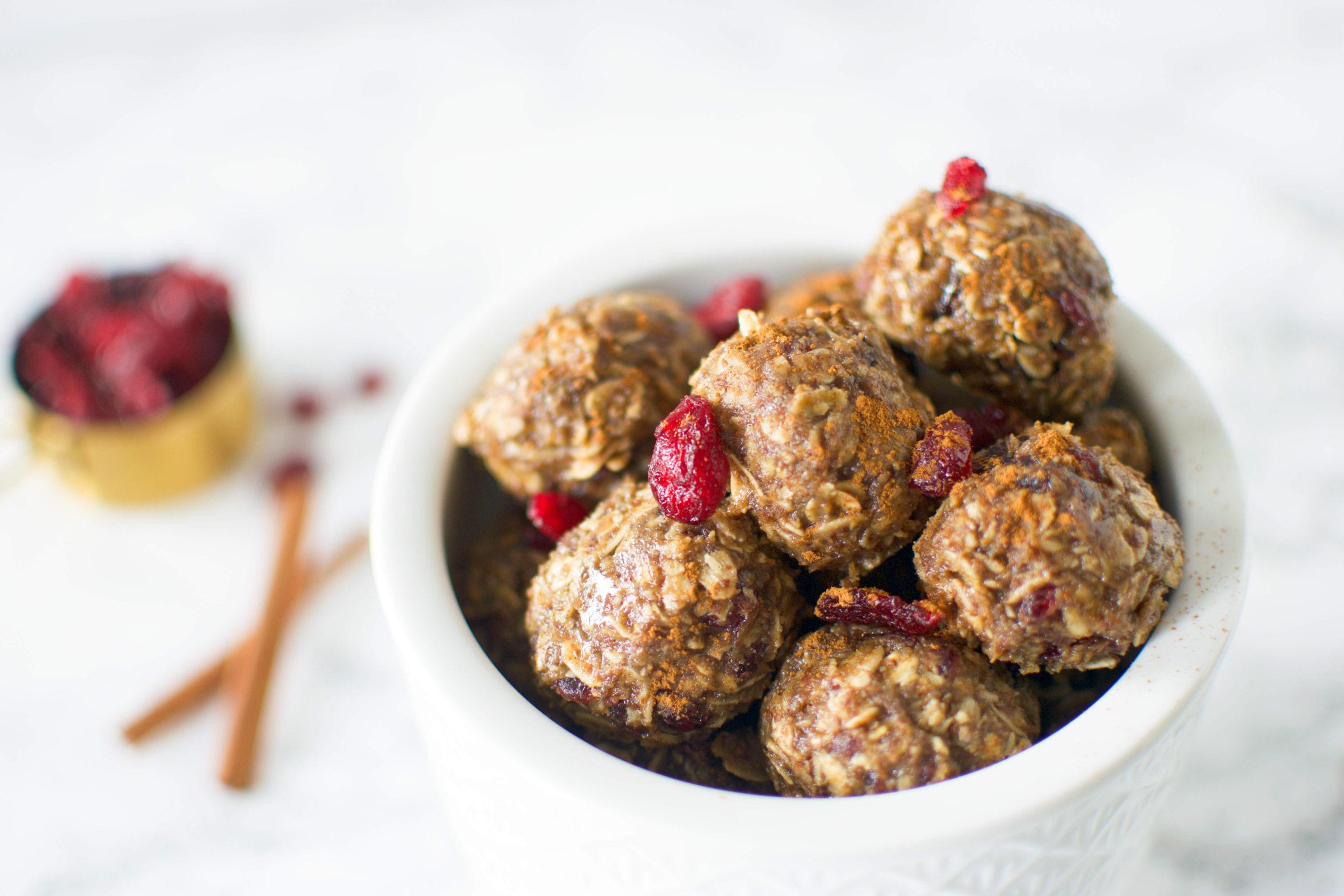 Cranberry Oatmeal Energy Bites
