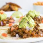30 minute lentil tacos