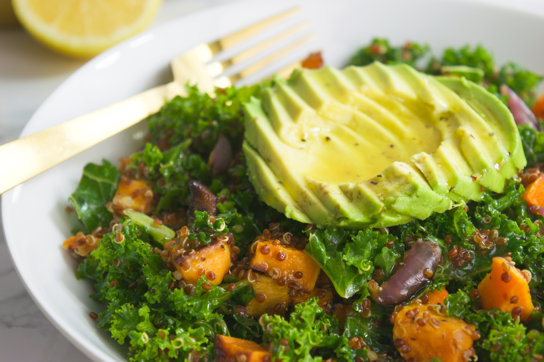 Roasted Sweet Potato+ Kale Salad