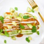 Black Bean + Sweet Potato Cabbage Enchiladas