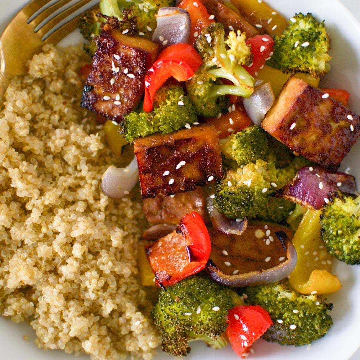 One Pan Teriyaki Tofu and Veggies
