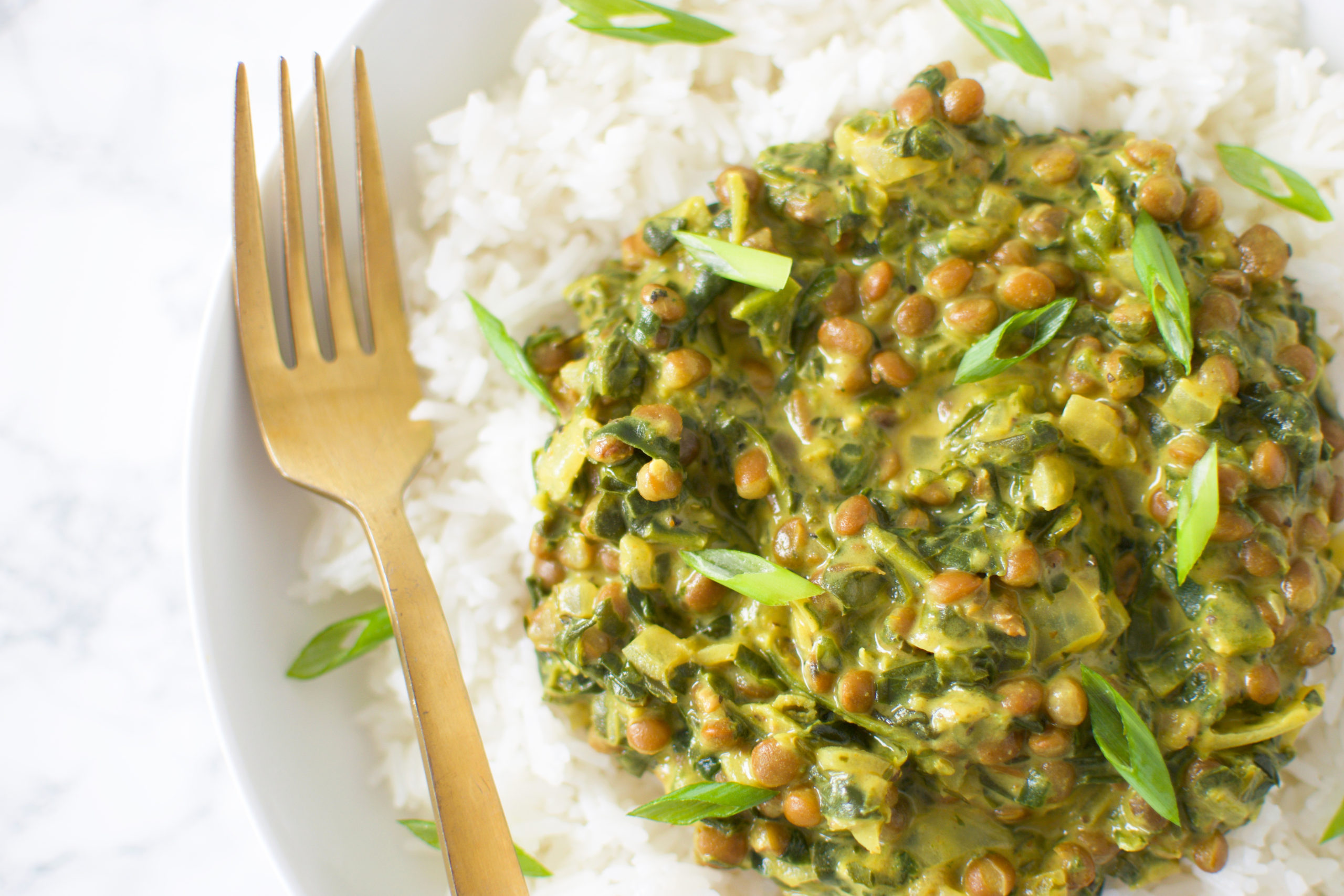Lentil Spinach Curry