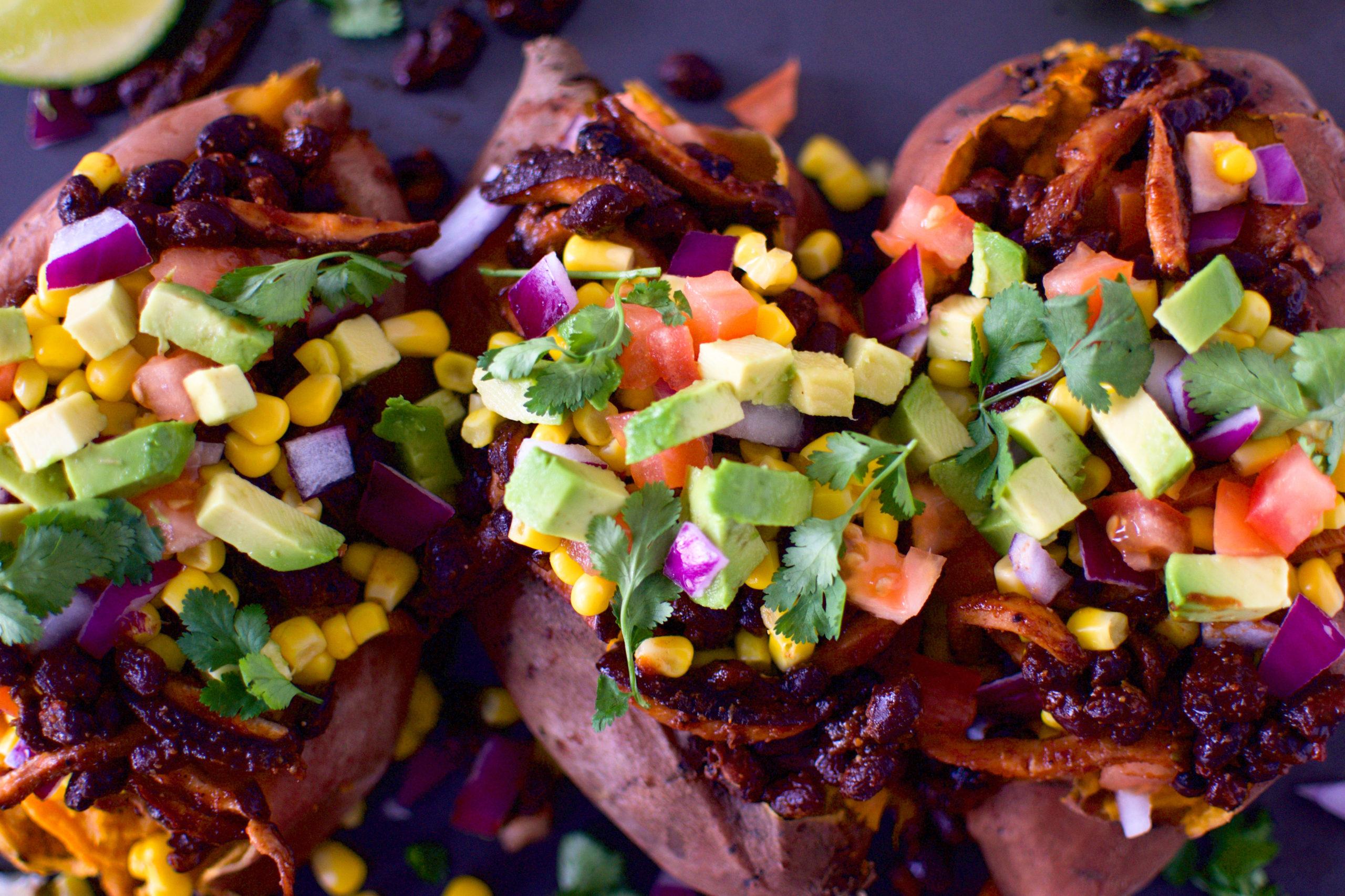 BBQ Taco Stuffed Sweet Potatoes