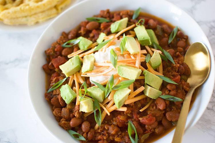 Beefy Vegan Chili