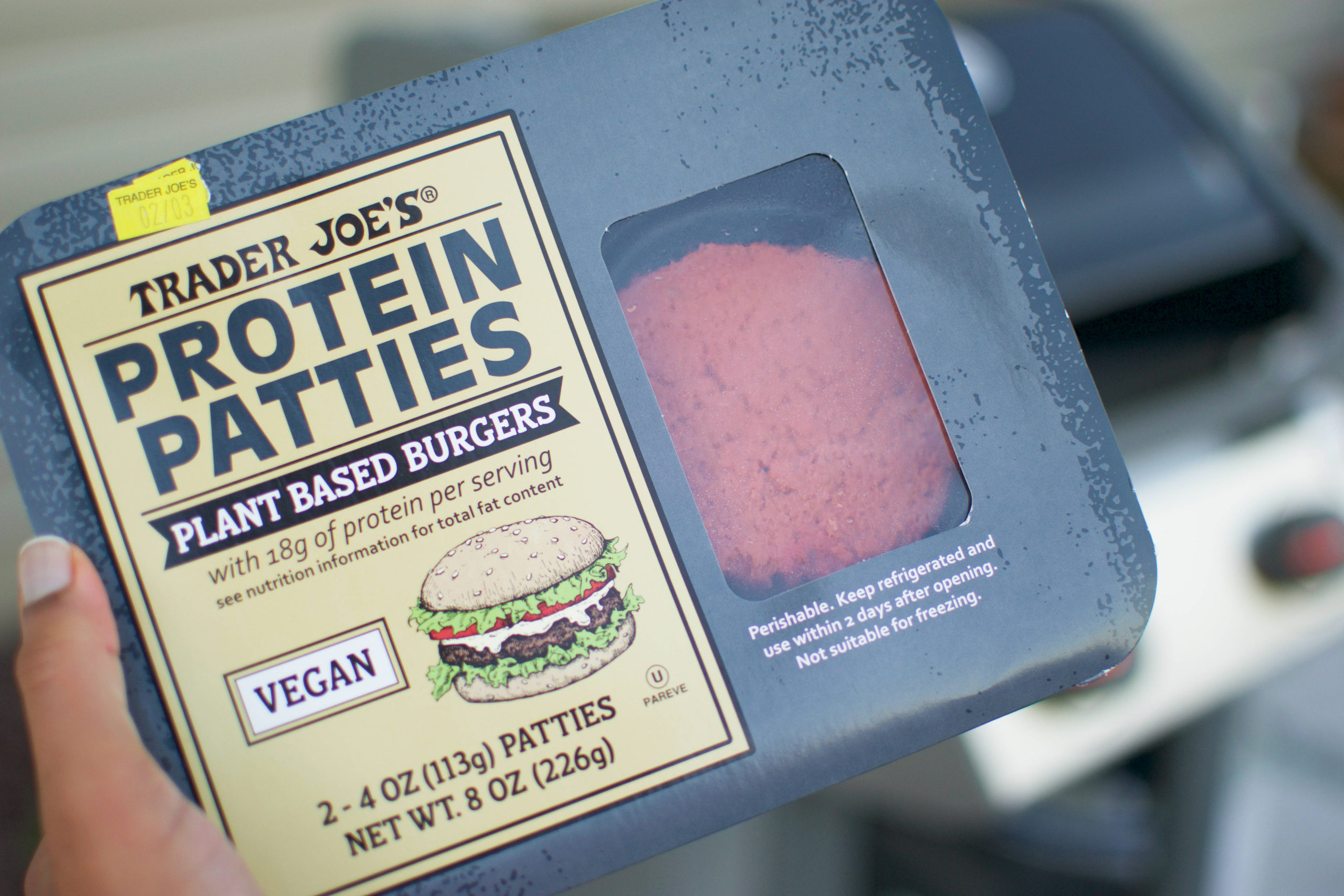 Trader Joe's Protein Patties Burger Package