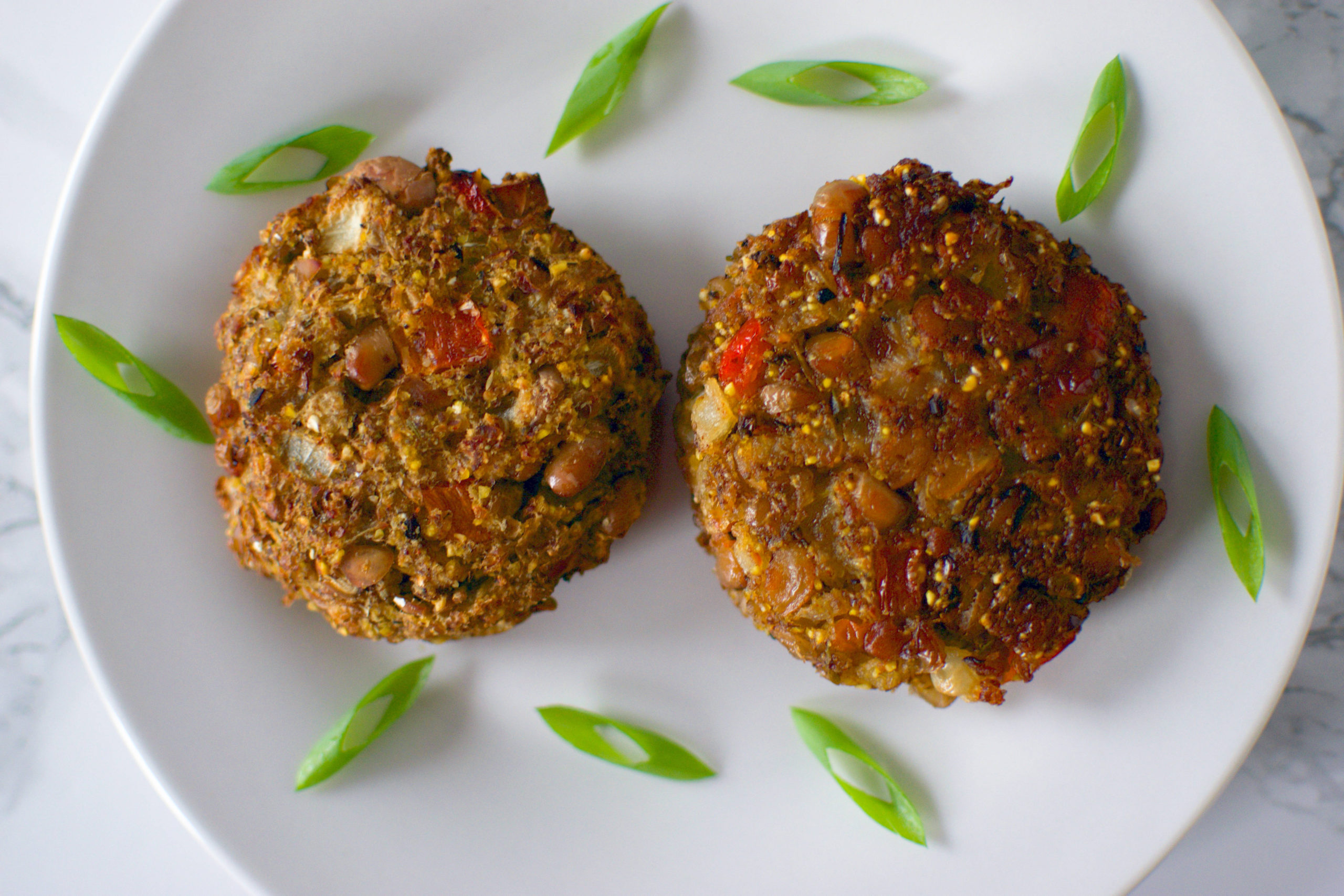 Air fried black-eyed pea fritters vs. fried