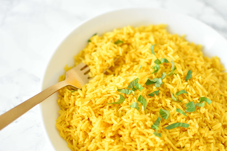 Coconut Turmeric Rice