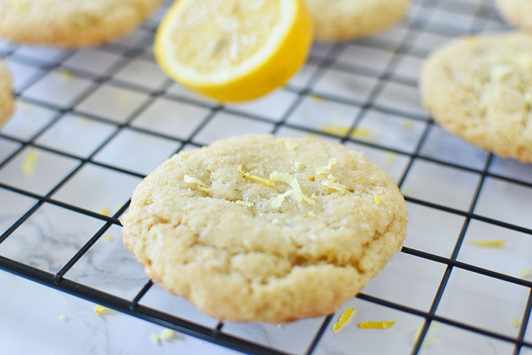 Vegan Lemon Sugar Cookies