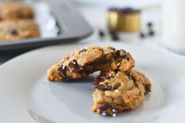 Easy Vegan Salted Chocolate Chip Cookies