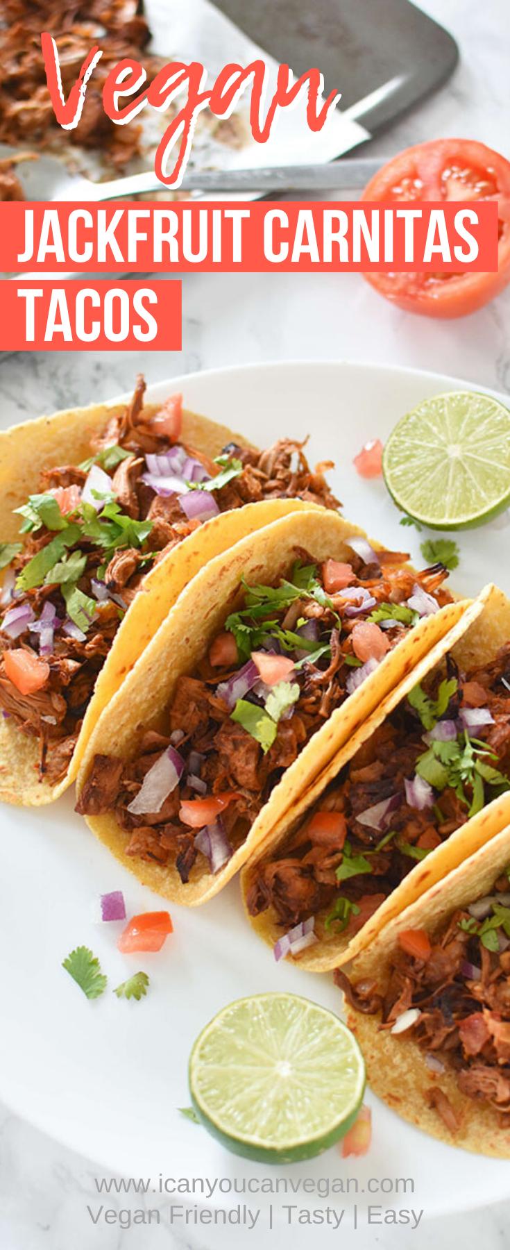 Jackfruit Carnitas Tacos Pinterest