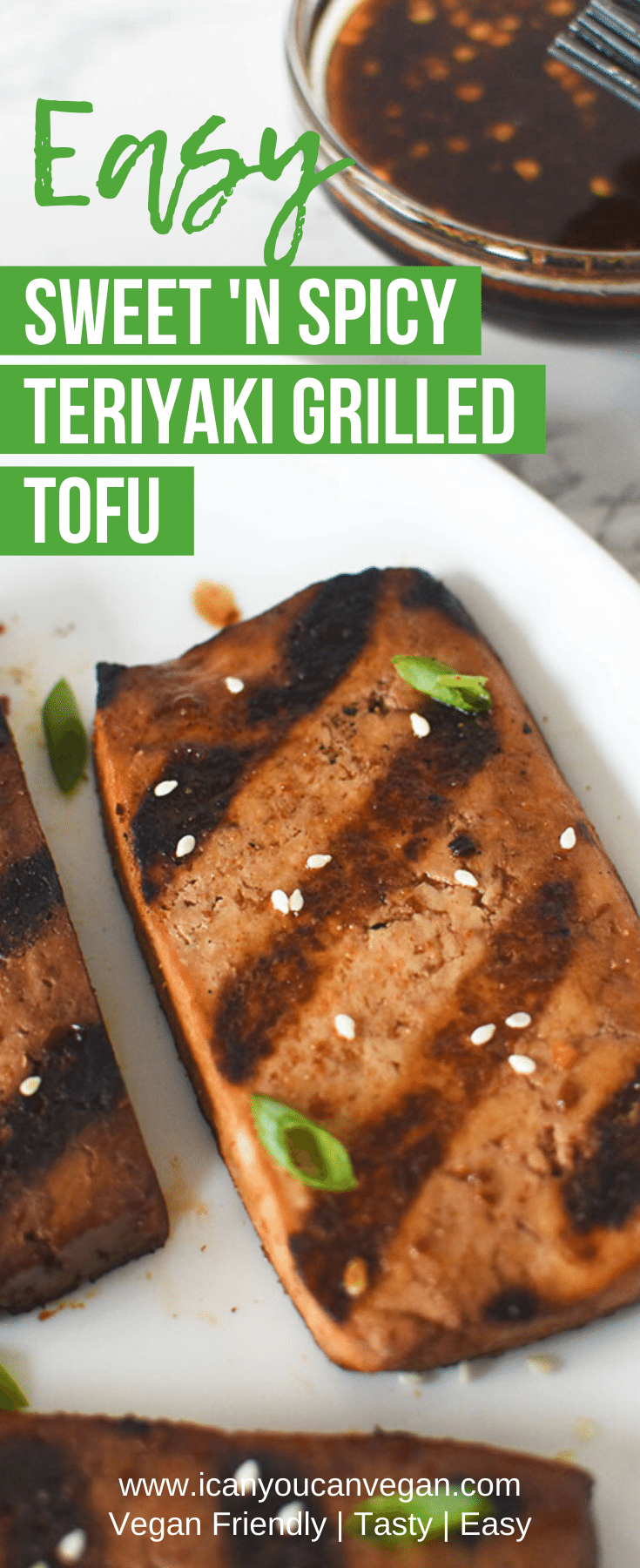 Sweet and Spicy Teriyaki Grilled Tofu Pinterest