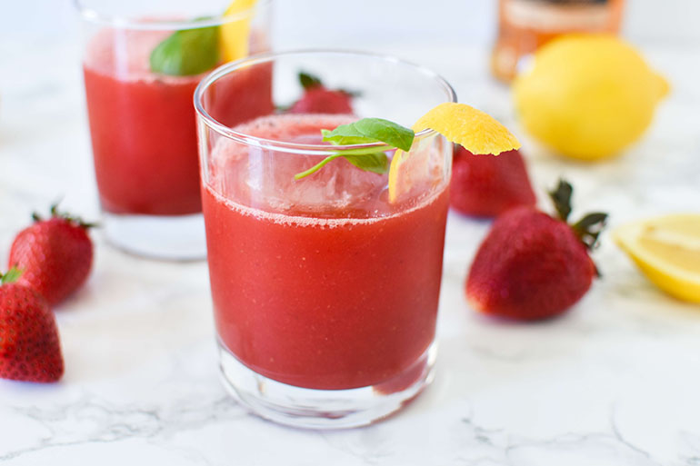 Easy Strawberry Basil Cocktail