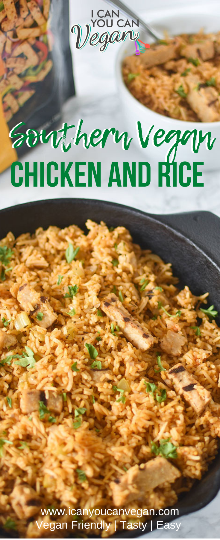 Vegan Southern Chicken and Rice Pinterest