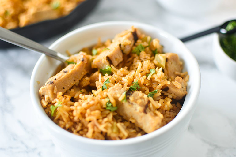 Vegan Southern Chicken and Rice