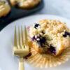 Vegan Streusel Blueberry Muffins