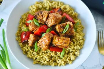 Vegan Chili Garlic Tofu