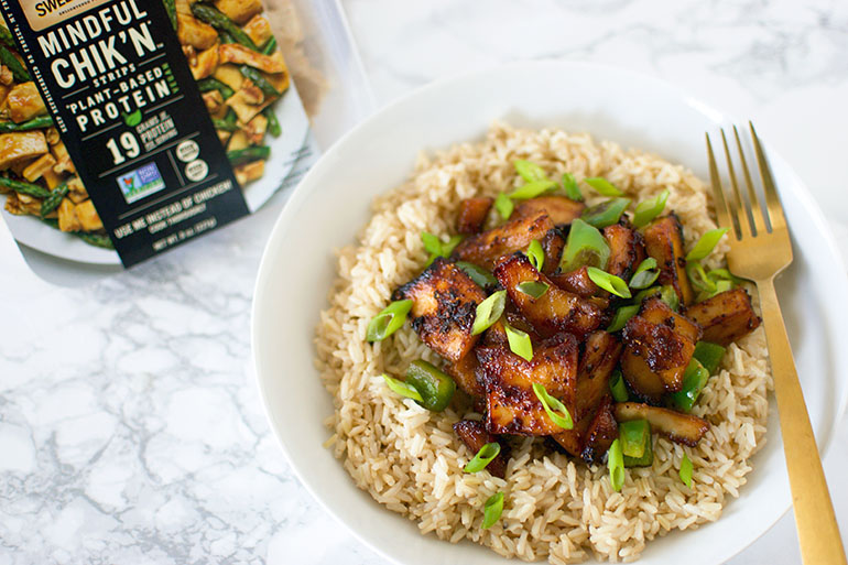 Vegan Honey Butter Garlic Chicken