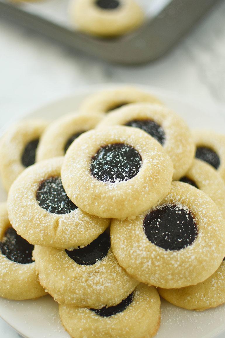 Vegan Thumbprint Cookies