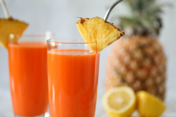 Carrot Ginger Pineapple Juice