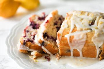 Easy Vegan Blueberry Lemon Cake