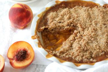 Vegan Peach Crisp